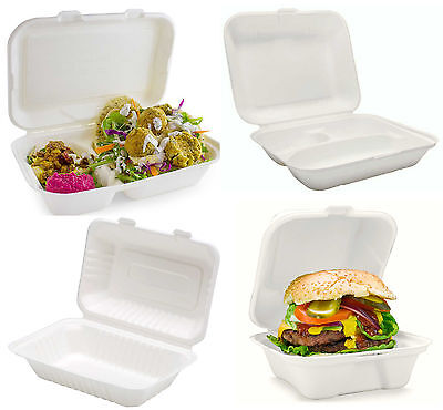 White food box leak/grease proof lunch salad box takeaway bio UK Deli boxes