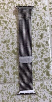 Apple Watch Genuine / Authentic 38mm Milanese Loop Band (Silver Stainless Steel)