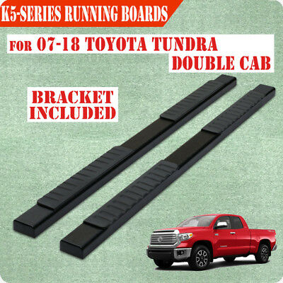 """Fit 07-18 Tundra Double Cab 5"""" Running Board Nerf Bar Side Step BLACK"""
