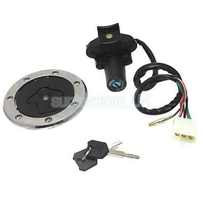 Motorcycle Ignition Switch Gas Cap Lock Security for Kawasaki ZZR400 ZZR600