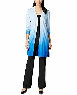 NY Women's Ombre Print Duster Cardigan X-Small Blue Multi, New