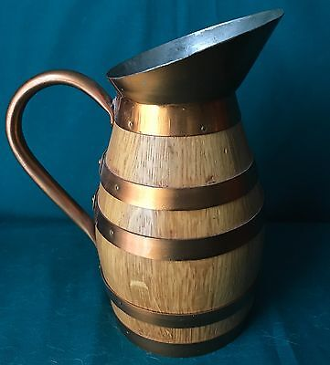 French Oak and Copper Pitcher