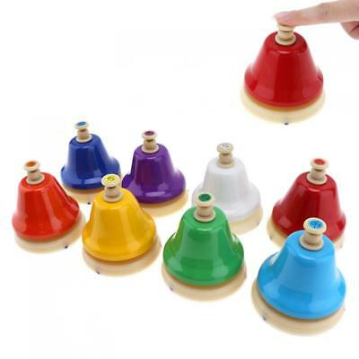 8 Tones Colorful Hand Bells Musical Instrment Child Baby Early Education Toy