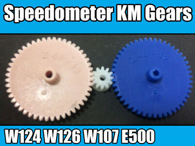 Mercedes W107 W124 W126 Odometer Speedometer VDO Euro KM/H Gears Repair Kit 3pc