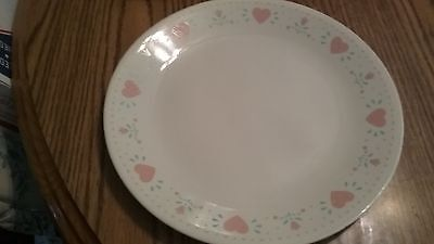 Corelle Dinnerware Forever Yours Peach Hearts Set Of 4 Luncheon Plates