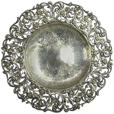 Antique Sterling Silver Bailey, Banks & Biddle Co. Reticulated Compote