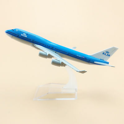 16cm Airplane Model Plane Air KLM Airlines Boeing 747 B747 Aircraft Model TOY