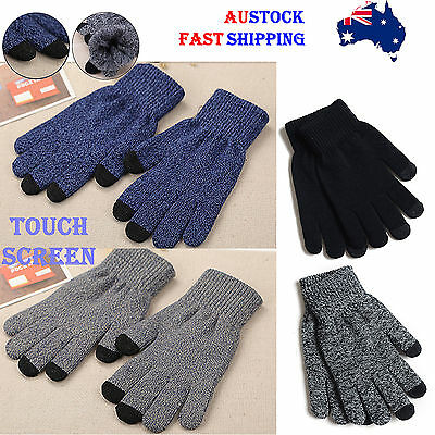 Women Men Fashion New Hot Selling Fashion Winter Gloves Touch Screen *aus*