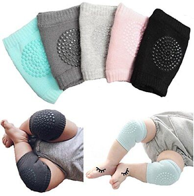Unisex Baby Toddlers Kneepads 5 Pairs Adjustable Knee Elbow Pads Crawling Safety