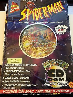 SEALED MARVEL COMICS SPIDER-MAN INTERACTIVE CD-ROM COMIC BOOK free shipping