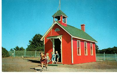 WI Dells, WI, Amusement Park, Storybook Gardens, Red School House, Clsd-Postcard