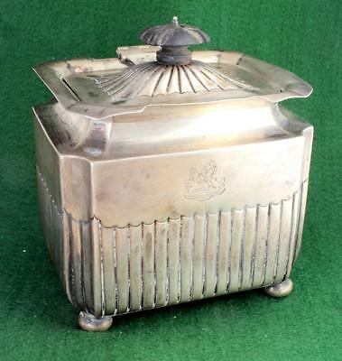ANTIQUE ENGLISH VICTORIAN STERLING SILVER TEA CADDY ! Free SHIPPING & HANDLING