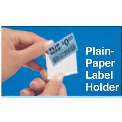 "BAG OF 100: Trion FSLH#30-0051 Flip Scan 1-1/4"" x 2"" Paper Label Holder"