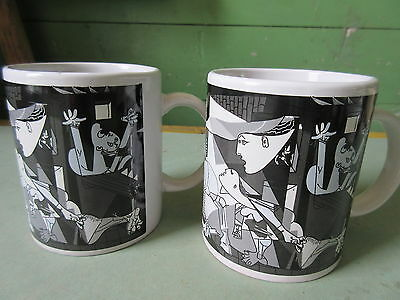 Two 2006 Pablo Picasso Guernica Coffee Mugs XL Art