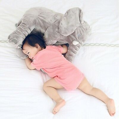 XL Elephant Pillow Cushion Kids Stuffed Doll Baby Toy Soft Plush Lumbar Nose New