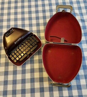 VINTAGE 1940s BreviType STENOGRAPH with CASE REPORTER SHORTHAND MACHINE
