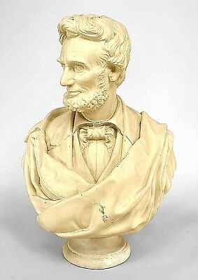 American Victorian Style (20th Cent.) Life-Size Plaster Bust of Abraham Lincoln