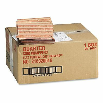 Coin-Tainer Company Pop-Open Flat Paper Coin Wrappers Quarters 1,000 ct