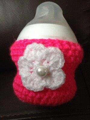 Hand crochet baby bottle cover for tommee tippee 5oz ~ baby shower gift