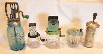 Great Lot Of Vintage Kitchen Hand Mixers And Graters Toddy Mayonnaise Egg Metco