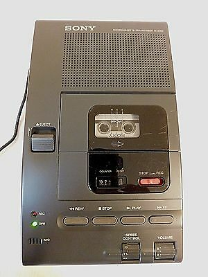 Tested & Clean SONY M-2000 Microcassette Transcriber Audio Dictation Recorder