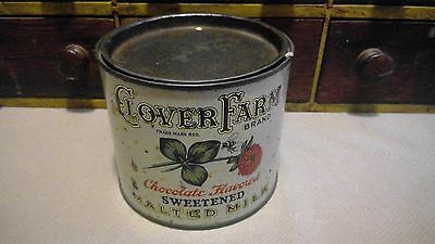 Antique Clover Farm Tin Malted Milk Country Store