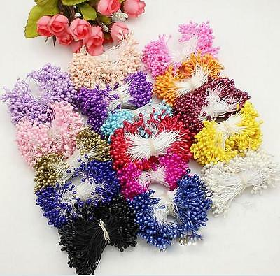 280PCS Artificial Flower Double Heads Stamen Pearlized Craft Cards Cakes Decors