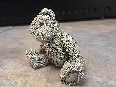 Sterling Silver Teddy Bear Ornament, Country Artists, Hallmarked 1994