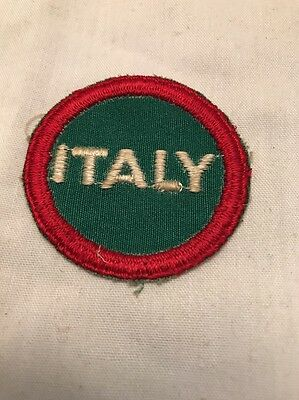 """Vintage WWII Italy Patch Italian Military Round WW2 2"""" Red White And Green"""