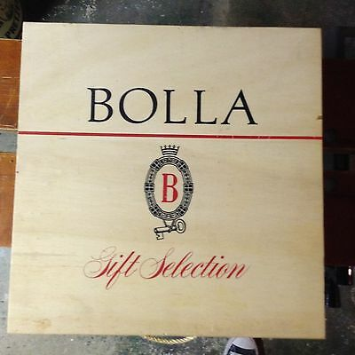 Vintage Bolla Gift Selection Wine Box Wooden Wood