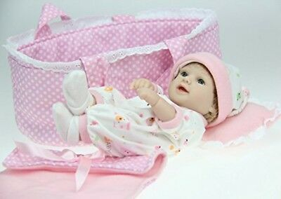 Lifelike Reborn Baby Girl vinyl Silicone Full Body handmade Toddler Dolls