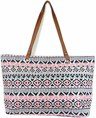 Large Utility Tote Bag by YJ 1607-M Peach-M, New