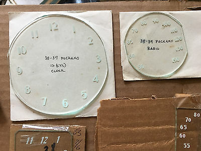 NOS 1938-39 Packard Dash Clock & Radio Faceplate - Only one Each -