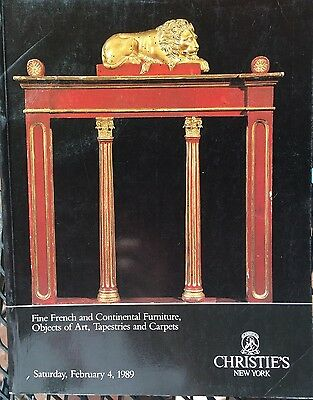 CHRISTIES Auction Catalog 2/4/1989 Fine French & Continental Furn, Art, Carpets