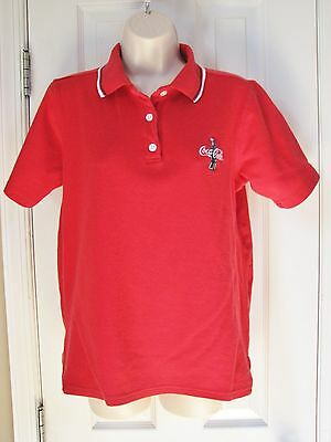 Coke Coca Cola Red Polo Shirt Short Sleeve 16w Child Plus Size