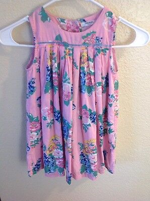 Baby Boden baby girl dress sz 3-4 years floral spring summer CUTE!