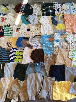 0-3 Months Baby Boy Clothes Lot 54 Pieces!