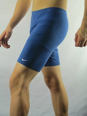Nike Blue Cotton Spandex Workout Running Shorts Size L(12-14) USA  MAR66