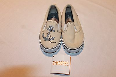 New Gmyboree toddler boys boat shoes size 8m..tan color