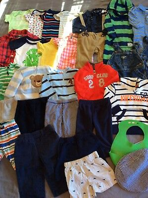 Baby Boy Clothes Lot Excellent Outfits 6 Months 32 Pieces.