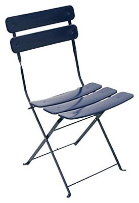 ATC Powder Coated Steel Outdoor Folding Bistro Chair Blue Pack of 2, New