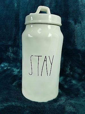 Rae Dunn Stay Dog Canister Magenta Pet Treat Cookie