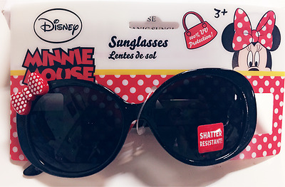 MINNIE MOUSE DISNEY 100% UV Shatter Resistant Girls Sunglasses w/ RED Bow