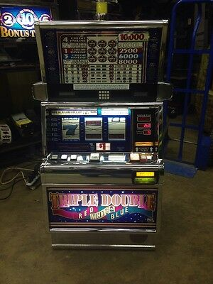 IGT Triple Double Red White And Blue Slot Machine