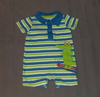 VGUC Koala Baby Boy Clothes 3 Months One Piece Short Sleeve Striped Romper