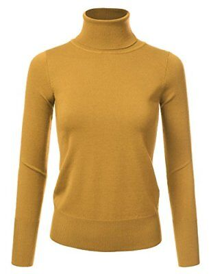 JJ Perfection Women's Stretch Knit Turtle Neck Long Sleeve Pullover Sweater MUST