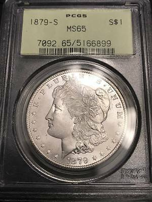 1879-S Morgan Dollar MS-65 PCGS Old Green Holder (White & Frosty)