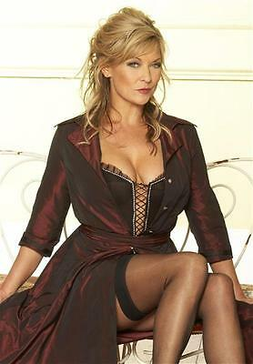 w1 Claire King stockings cleavage A4 12x8 approx glossy photo