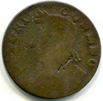 1786 Connecticut copper, bust facing left.  M#4.1-G