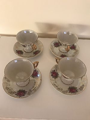 Vintage Tea Cup and Saucer X 4